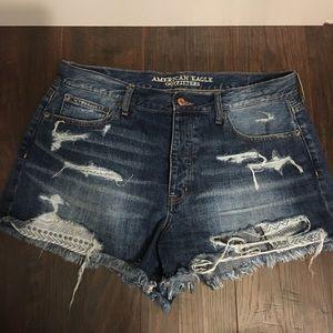 American Eagle denim shorts size 14